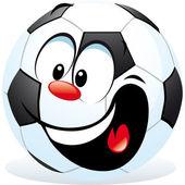 Cartoon soccer ball — Stock Vector