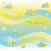 Dreamy sea background — Stock Vector