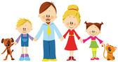 Family holding hands — Stock Vector