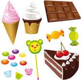Tatlılarfındık ile tatlılar — Stok Vektör