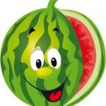 Happy melon cartoon — Stock Vector #17453917