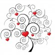 Royalty-Free Stock Vectorafbeeldingen: Valentine tree