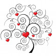 Royalty-Free Stock Obraz wektorowy: Valentine tree