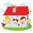 Royalty-Free Stock : Family house