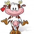 Cute Cow cartoon - Stock Vector