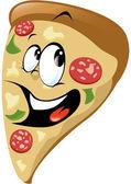 Cartone animato pizza — Vettoriale Stock