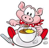 Swine flu cartoon — Stock Vector
