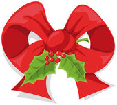 Arco de acebo de Navidad — Vector de stock