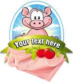 Etykieta naturalny mięso — Wektor stockowy