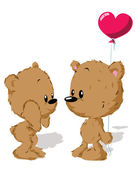 Valentine pár medvědů — Stock vektor