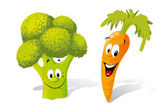 Broccoli and carrot — Stock Vector