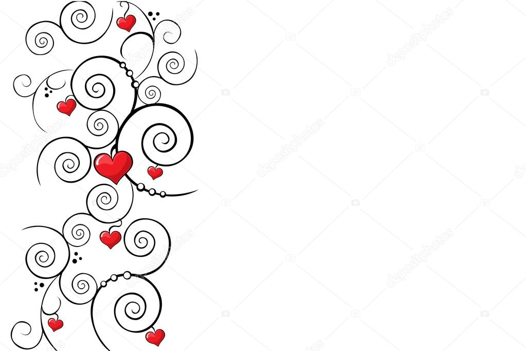 Valentine background with red heart  Stock Vector #17454189