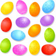 Colorful decorative easter eggs — Stock Vector