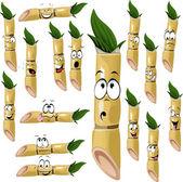 Sugarcane cartoon — Stock Vector