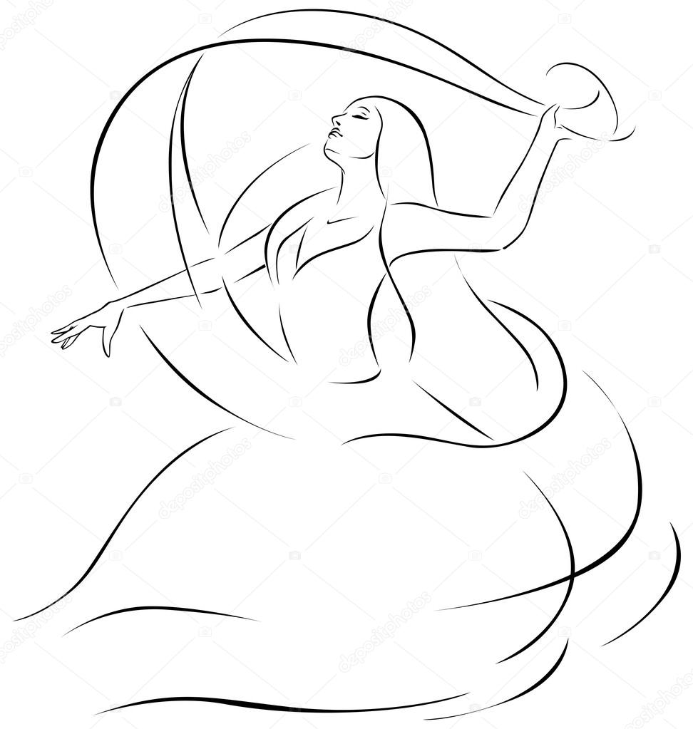 Belly dancer illustrat...