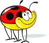 Funny ladybug cartoon — Stock Vector