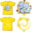 Kid shirt with cute seal printed — Stock Vector