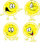 Lemon cartoon - funny illustration isolated on white background — Stock Vector