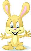 Cute baby bunny cartoon — Stock Vector
