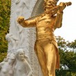Johann Strauss Statue in Vienna Stadtpark - Stock Photo