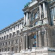 Hofburg Imperial palace entrance, view from Burggarten, Vienna Austria — Stock Photo #13379264