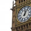 Big Ben Details with white background - Palace of Westminster, Parliament B — Stock Photo #13379306