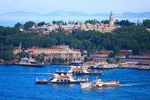 Topkapi Palace before Marmara sea, Istanbul, Turkey — Stock Photo