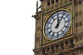 Big Ben Details with white background - Palace of Westminster, Parliament B — Stock Photo