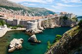 Dubrovnik scenic view on city walls — Foto de Stock