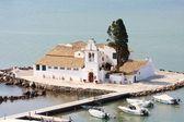 Mouse Island, Pondikonisi Monastery, Corfu, Greece — Stock Photo