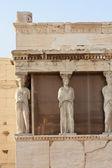 Erechtheion temple closeup, Acropolis, Athens, Greece — Stock Photo