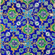 Iznik tiles colorful ornamental details — Stock Photo