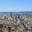 San Francisco Downtown from Twin Peaks (Wide) - Stock Photo