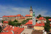 View on the Schwarzenberg castle in Cesky Krumlov / Krumau — Stock Photo