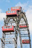 Wien prater berömda gamla färjor hjul — Stockfoto