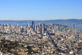 San Francisco Downtown from Twin Peaks (Wide) — Stock Photo