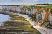 Cliffs near Etretat and Fecamp, Normandy, France — Stock Photo