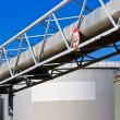 Oil reservoir on a petrochemical plant — Stock Photo #13443634