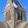 St. Mere Eglise, Normandy, France - Stock Photo