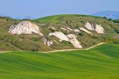 Crete Senesi - Tuscan Landscape in Spring, Italy — Stock Photo