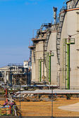 Oil Refinery (blue sky) — Stock Photo