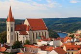 Znojmo, Znaim, Church of St. Nicolas, Czech Republic — Stock Photo