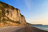 Cliffs etretat ve fecamp, normandy, Fransa — Stok fotoğraf