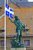 雅克 · 卡地亚雕像 — 图库照片