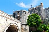 Dubrovnik City Entrance through medieval walls, Croatia — Stock Photo