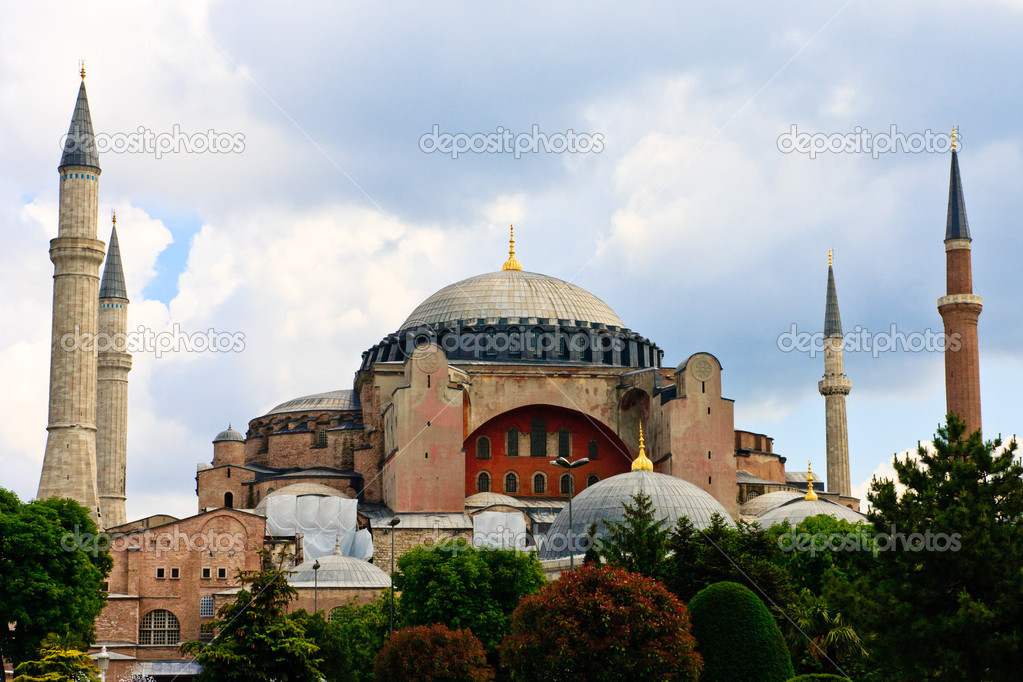 The famous Hagia Sophia in Sultanahmet, Istanbul, Turkey  Stock Photo #13450587