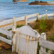Old wooden white fence — Stock Photo