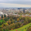 Edinburgh, View on city over Princes Street Gardens, Scotland — Stock Photo
