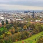 Edinburgh, View on city over Princes Street Gardens, Scotland — Stock Photo #13464603