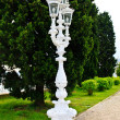 Stock Photo: White Baroque style street lantern